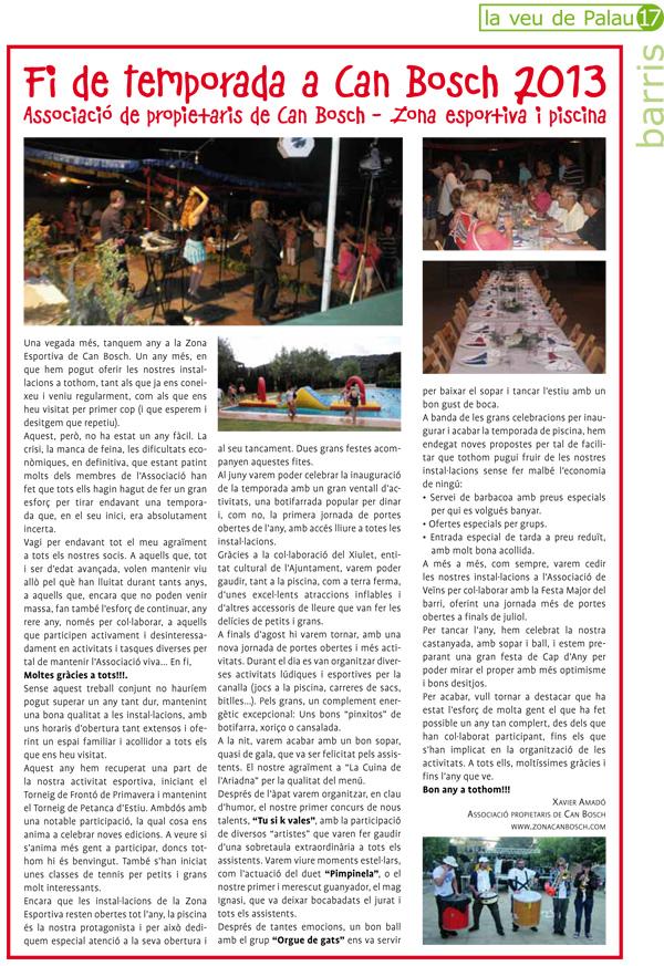 2006 - REVISTA RESSÒ D'AVIÀArticle al RESSO (Revista Municipal de l'Ajuntament d'Avià - Berguedà). Resum dels 25 anys del Grup