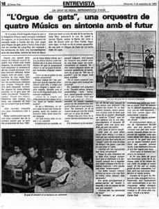 1985 - CORREU 3 Article Carles Solà