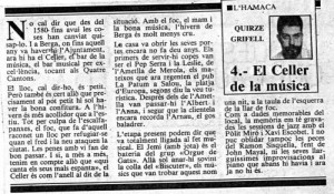 1987 - REGIÓ 7Article Quirze Grifell