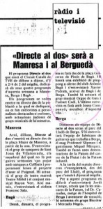 "1988 - ""Directe al 2""TVE St. Cugat"