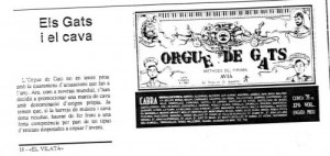 1989 - EL VILATÀNota Cava ORGUE DE GATS