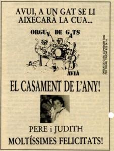 1990 - REGIÓ 7Anunci Casament Pere Farrés