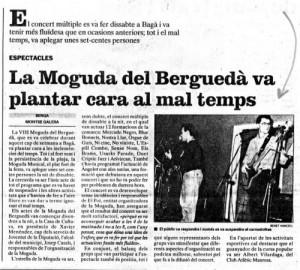 """1991 - REGIÓ 7Article """"VIII Moguda del Berguedà"""""""