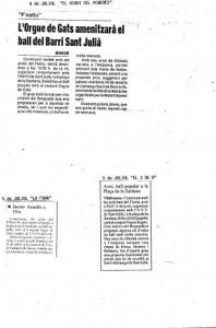"""1991 - LA FURIANotes d'Agenda a """"LA FURA"""", """"3 DE 8"""" i """"DIARI DEL PENEDES"""""""