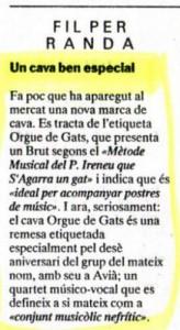 1991 - REGIÓ 7Nota Cava ORGUE DE GATS