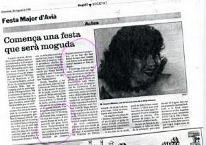 1991 - REGIÓ 7Nota 10è Aniversari ORGUE DE GATS