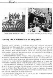 1993 L'ANTENAArticle 10è Aniversari ORGUE DE GATS