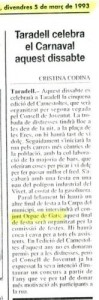 1993 - EL 9 NOUCCarnestoltes a Taradell ORGUE DE GATS
