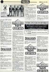 1993 - PRIMERA MÀAnunci a la revista PRIMERA MÀ
