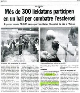 2003 - DIARI SEGRENota Ball Taxi a Lleida per combatre l'Esclerosi